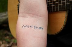 """come as you are"" in Kurt cobains writing"