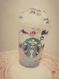 Starbucks Galaxy Bottle. Maked by me and my bf🙏👑