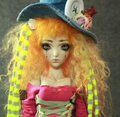Mad Hatter , from the Alice in Wonderland . Mad Tea Party Porcelain BJD Dolls by Forgotten Hearts