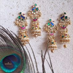 This wedding season don these gorgeous earrings for a charming look. The traditional colours and design make them perfect. By RaAbta, available at Minerali. #minerali_store #earrings #raabta #jewellery #designer #accessories #fashionjewellery #weddingjewellery #linkingroad #bandra #minerali