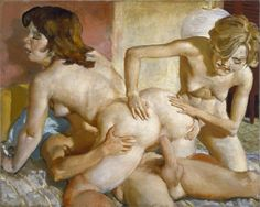 Currin combines the beautiful and the weird with equal measure in his depictions of lusty, doe-eyed female figures often portrayed in gross proportions that both enchant and repel. Description from emptykingdom.com. I searched for this on bing.com/images