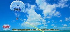Fury Ultimate Adventure: The parasailing takes you about 350 feet in the air.