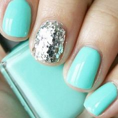 "[Tiffany Bling]-- Essie ""Turquoise & Caicos"" and  Essie ""Set in Stone"" √"
