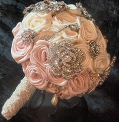 Antique White & Ice Pink Brooch Bouquet by Elegance On The Avenue , via Behance
