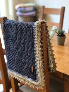 Merino Baby Granny Square Blanket Crochet pattern by Eight-by-Six Crochet Granny, Crochet Yarn, Blanket Crochet, Crochet Afghans, Afghan Crochet, Crochet Slippers, Crochet Stitches, Christmas Knitting Patterns, Strands
