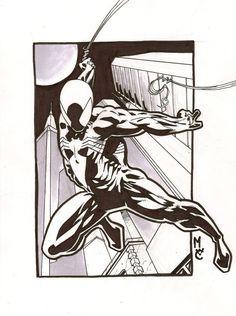 Spiderman pinup by StirbNichtVorMir87 on deviantART