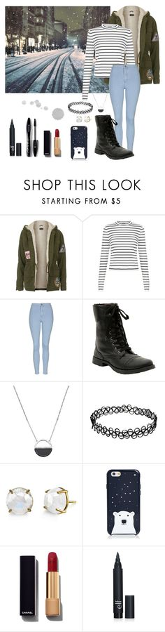 """""""Midnight Walks"""" by fandomsandfashion-492 ❤ liked on Polyvore featuring Topshop, New Look, Hot Topic, White House Black Market, Irene Neuwirth, Kate Spade, Chanel and Lancôme"""