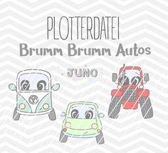 Autos Plotterdatei / cuttingfile cars Etsy, Comics, Kids, Bunt, Design, Products, Autos, Binder, Sewing Patterns