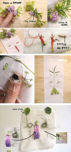 DIY Embroidering With Nature via Handmade Charlotte