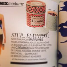 Bougie parfumée Jonathan Hashish vue dans Madame Figaro.#bougie #bougies #candle #jonathanhashish #cadeau #cadeaux #shopping#fashion #presse #magazine #madamefigaro #selectionnist