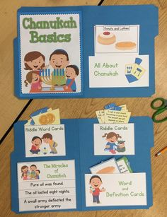 ***NEW Chanukah Basics***  This product is a a great way to teach your students about the Jewish holiday of Chanukah. Whether you create a lap book or use each part separately, your class will enjoy learning about the holiday!  contents: *Cover *Chanukah