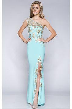 Luxurious Blue Natural Sheath Sleeveless Yarn Prom Dresses
