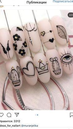 Love Nails, Pretty Nails, Nail Art Arabesque, Disney Acrylic Nails, Mickey Nails, Nagellack Design, Neutral Nails, Minimalist Nails, Bridal Nails