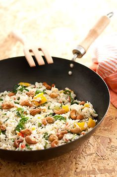 Cooking Recipes, Healthy Recipes, Healthy Food, Fried Rice, Food And Drink, Ethnic Recipes, Kitchen, Být Fit, Gnocchi