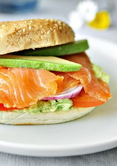 Smoked Salmon with Avocado Sandwich