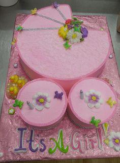Calumet Bakery  Baby Buggy shaped cake