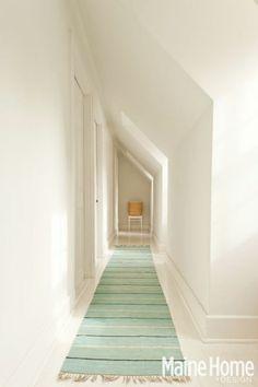 Long attic hallway