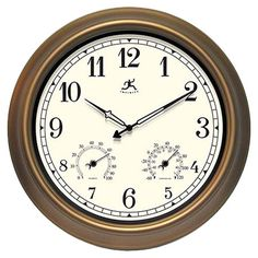 Found it at Wayfair - The Craftsman Wall Clock in Bronzehttp://www.wayfair.com/daily-sales/p/Living-Room-Clearance-The-Craftsman-Wall-Clock-in-Bronze~UH1708~E12995.html?refid=SBP.rBAZEVNJ00Q0dAyo1JZRAvnQcKUBRU97idNKhLySjk4