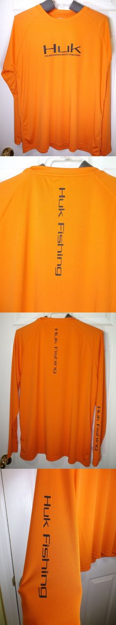Shirts and Tops 179982: Huk Performance Raglan Long Sleeve Fishing Shirt - Orange - Size Xl -> BUY IT NOW ONLY: $32.99 on eBay!