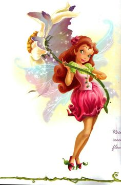 Rosetta from Disney Fairies as she is illustrated in one of the books.  Isn't her dress adorable?  I love the bodice.
