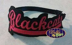 Blackcats Headband Slider - 5x7 | What's New | Machine Embroidery Designs | SWAKembroidery.com Bella Bleu Embroidery