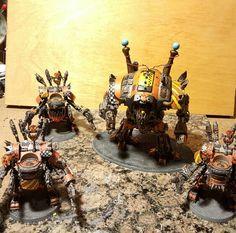 Warhammer 40k, Kustom Meka dredd, orks, looted knight, Deff Dredds