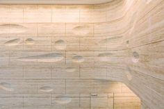Travertine Wall by Kohn Pedersen Fox