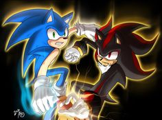 Fan Art of Twin Attack for fans of Shadow The Hedgehog.