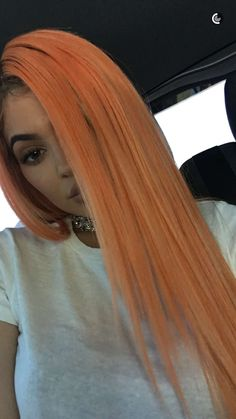 Peach Hair Colors, Bright Hair Colors, Hair Colour, Kylie Jenner Outfits, Kendall And Kylie Jenner, Sew In Wig, Kylie Hair, Kardashian Jenner, About Hair