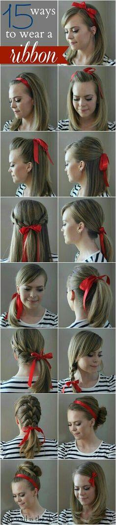 15 ways to wear a #ribbon <3