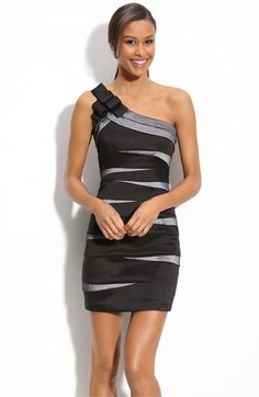 One shoulder, black and gray, Love it.