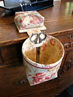 Sew-In-Style Thread Catcher / Scrap Caddy with Detachable Pincushion. $24.95, via Etsy.