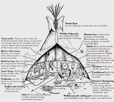 Les habitations des indiens