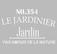Pochoir Adhésif 28 x 20 cm PUB JARDINIER
