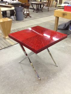 559-639 Lamp Table from our Omni Collection shown here in Garnet.
