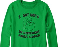 I Got Hoes In Different Area Codes Funny Ugly Christmas Sweater Unisex Crewneck where my dos at style christmas men and ladies sweater