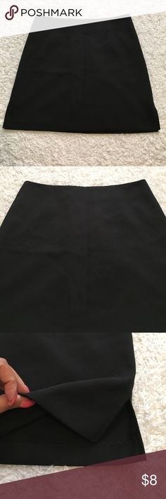 Star City Black skirt In excellent condition. No rips or stains. Measurements are on pictures. Has no size tags but I know it's a small no pockets Star City Skirts Mini