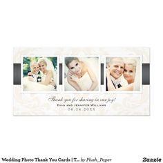 Wedding Photo Thank You Cards Three Photos
