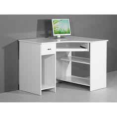 Venus White High Gloss Corner Computer Desk