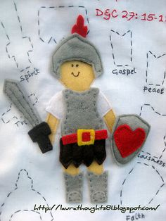 Put on the Armour of God Quiet Book Template...such a cute idea!