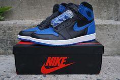 fd84f1e98a6f85 Nike Air Jordan 1 Retro Royal 555088 007 Blue Black 2017 New Mens Size 12 13