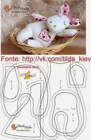 Resultado de imagem para moldes de naninhas para bebe