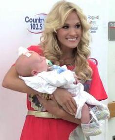 Carrie Underwood on Pinterest   Carrie Underwood, Miranda Lambert ... Carrie Underwood and her baby boy
