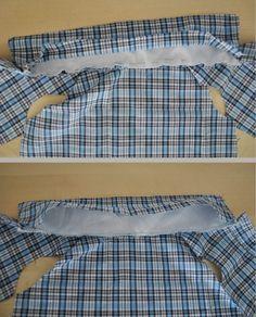 Hawaiian style shirt, squares, for a wedding, etc .make a dog shirt! Dog Clothes Patterns, Coat Patterns, Shirt Patterns, Dog Coat Pattern, Sewing Shirts, Puppy Clothes, Dog Wear, Dog Dresses, Dog Shirt