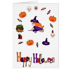 Happy Halloween Card - holidays diy custom design cyo holiday family