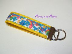 Care Bears Key Fob Key Chain Key Ring Key by MonkeyintheMailbox