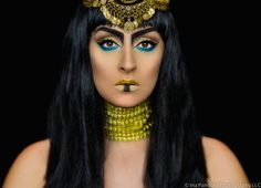 New makeup tutorial on my youtube channel Cleopatra #cleopatra #makeup #makeuptutorials #halloween #halloweenmakeup