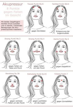 Acupressure face against wrinkles dots image acupressure points instructions - Anti aging - Hautpflege Beauty Make Up, Diy Beauty, Beauty Hacks, Fitness Workouts, Belleza Diy, Massage Tips, Face Yoga, Acupressure Points, Les Rides