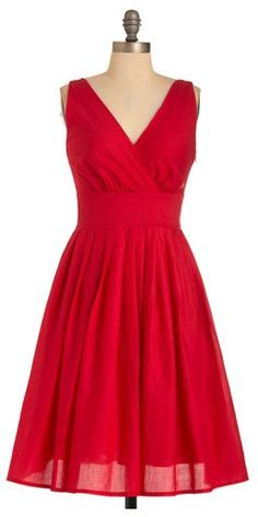 poppy red dress