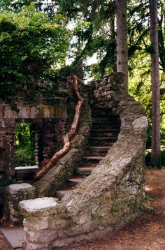 Rock Garden Stairs - theatrical and ancient looking, a grand entrance.